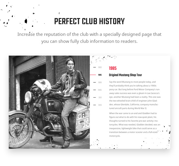 Lex Rider is a fully responsive Biker & Motorcycle WordPress Theme