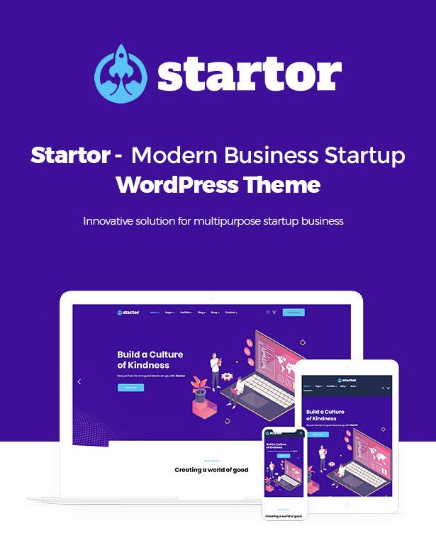 Startor Modern Business Startup WordPress Theme