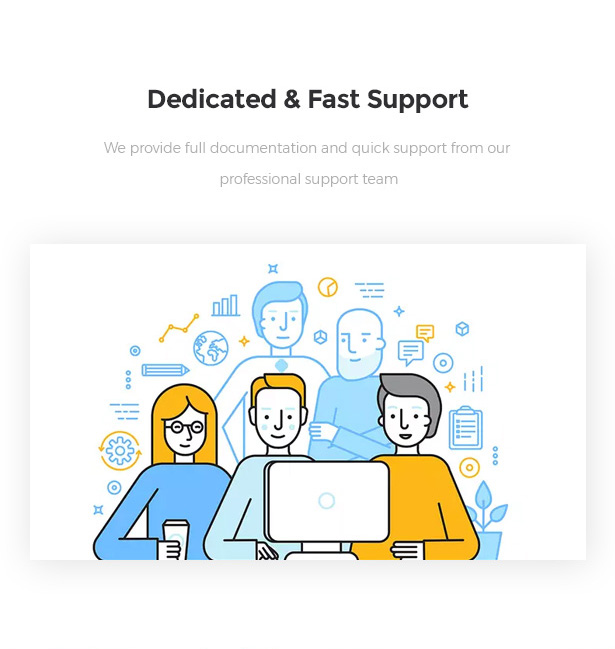 Fast and friendly support Startor Startup Business WordPress Theme