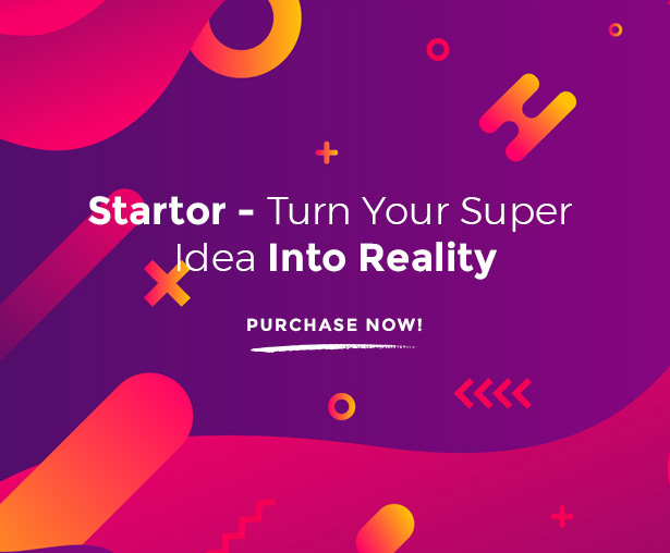 Startor Perfect Startup WordPress Theme For Creative Business Agency, Corporate & Company