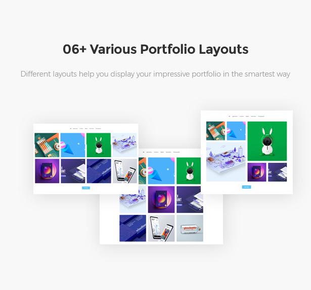 06+ Awesome Layouts For Portfolio Startor Startup Business WordPress Theme