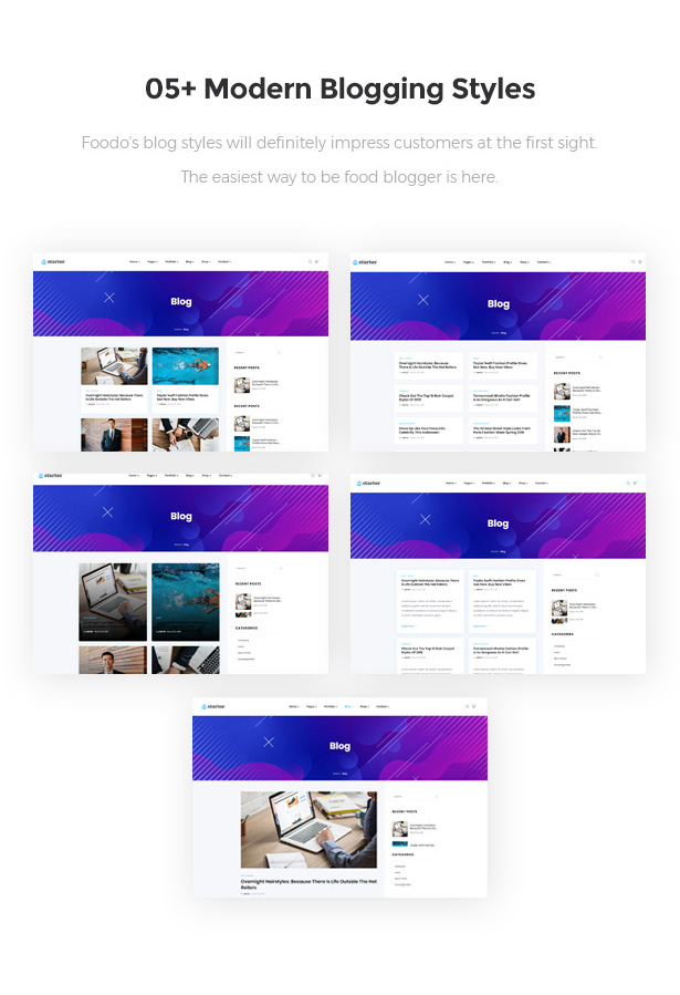 05+ Elegant Blogging Styles Startor Startup Business WordPress Theme