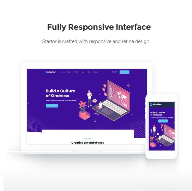 Startor Responsive Startup Business WordPress Theme